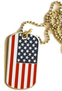 Union Flag Dog Tag